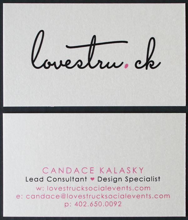 Omaha, Nebraska Wedding Planner lovestruck_bizcards