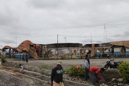 Kebakaran Bandara Wamena (WMX Airport)