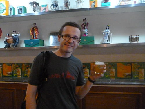 Free sample at the Tsingtao beer museum
