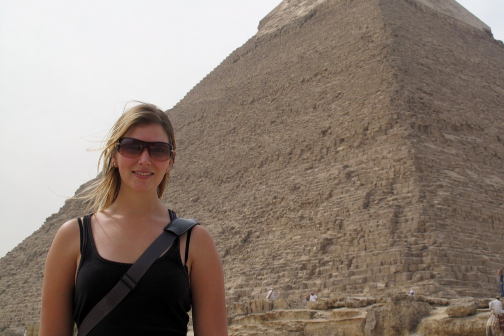 Nicole at the Great Pyramids