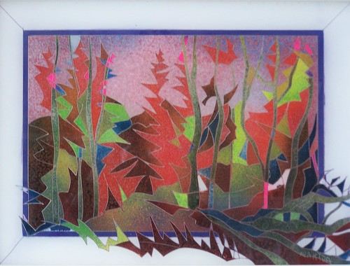 Autumn   Painting Original   Plexiglass