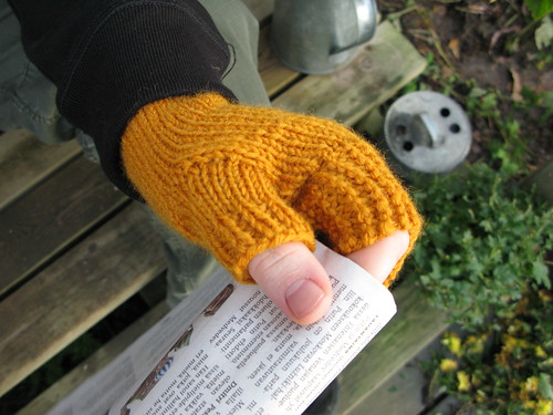 Yellow mitts