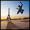 Eiffel Tower, Paris (Popeyee) Tags: pictures morning sun man paris france tower monument sports sunrise canon french fun fly photo yahoo high jump jumping foto photographer tour image photos action ngc skating eiffeltower over picture landmark eiffel images fotos latoureiffel inline rise bild yourpictures gifranceoct myeiffel yahoo:yourpictures=myeiffel