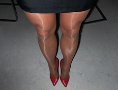 R0011771 (nylongrrl) Tags: feet stockings shiny highheels legs glossy upskirt heels satin stiletto ph ankle pantyhose nylon nylons collant