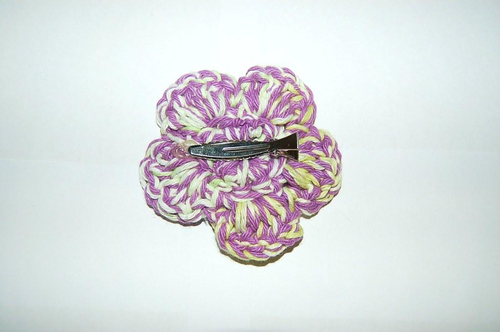 14 Purple & White Flower Hair Clip 2 Dainty Bloom