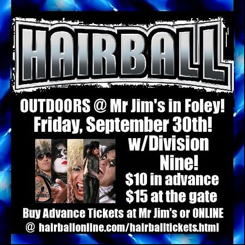 09-30-11 Hairball/Division Nine @ Mr. Jim's, Foley, MN