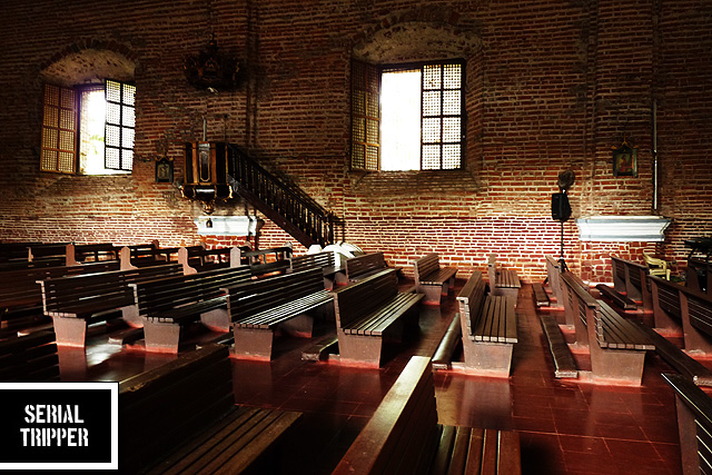 Interior of Sta. Monica Church