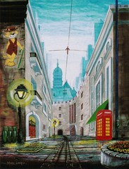 Peabody Way (Mark Longo Art & Design) Tags: art painting design fineart acrylicpainting englishphonebooth marklongo