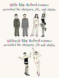 jfk, stalin, and stripers oxford comma