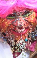 Pierced Lady (ianharrywebb) Tags: portrait streetentertainers edinburghfringe iansdigitalphotos piercedlady blinkagain yahoo:yourpictures=nature yahoo:yourpictures=hallowen