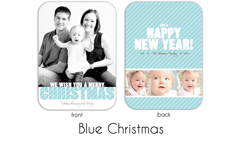 Blue Christmas 5x7 rounded edges