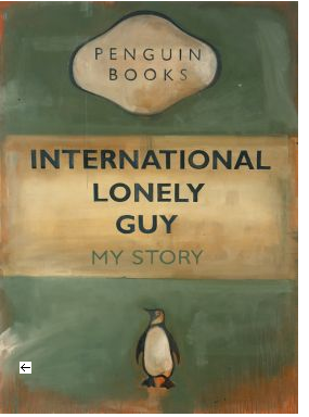 Harland Miller, International Lonely Guy - My Story, 2002, Oil on canvas
