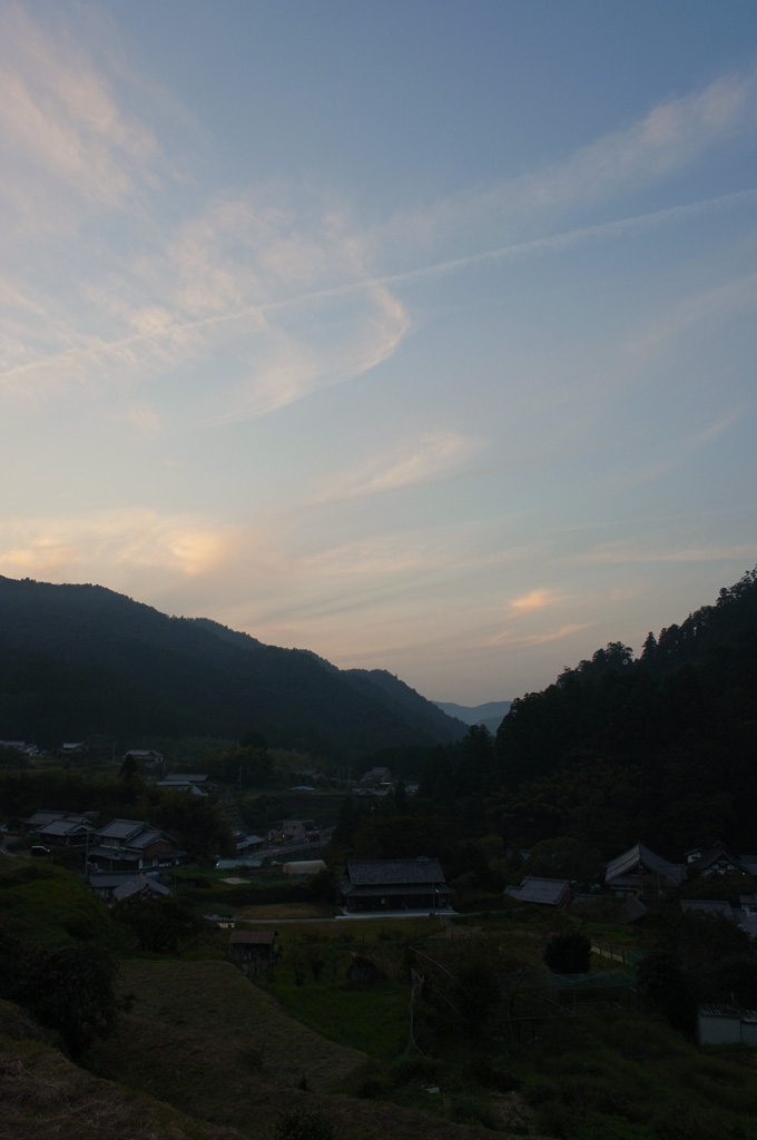 the dusk at Murou village, Nara