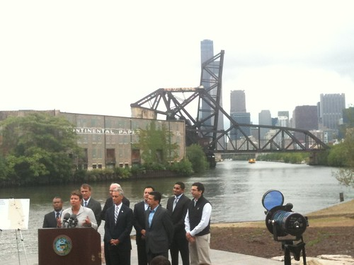 Chicago River Press Conference 1 by jmogs via Flickr