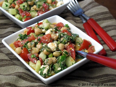 Middle Eastern Vegetable Salad (Fattoush) 2 - FarmgirlFare.com