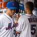 Josh Thole congratulates David Wright for his season