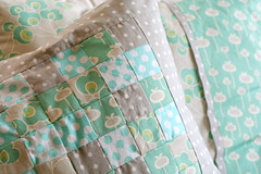 patchwork cushion (Sados da Concha) Tags: grey aqua handmade gray mint pillow handcrafted scraps patchwork cushion almofada amybutler retalhos saidosdaconcha constancacabral