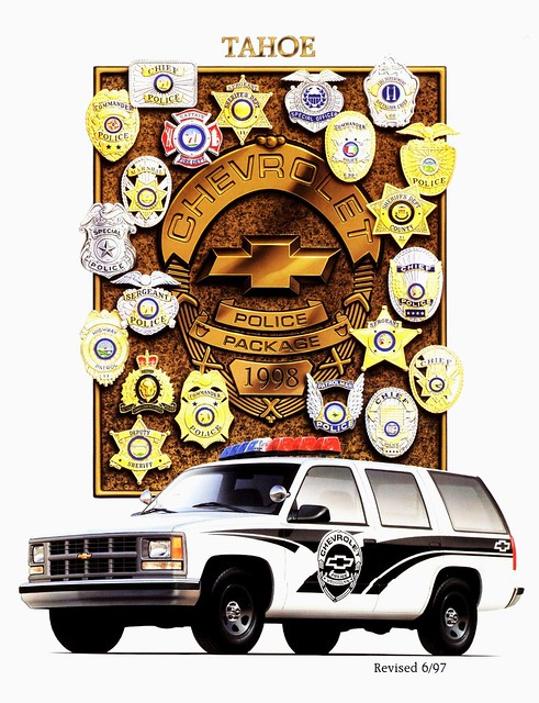 chevrolet tahoe police vehicles 1998 brochure package