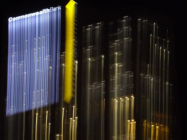 Commonwealth Bank - Night Lightpainting Sydney City CBD