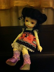 My dollzone event deer!! I did the blushing on her legs and hooves!! (crzyboutalice) Tags: tiny bjd dollzone eventdeer