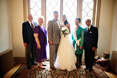 Families Tajibnapis  		& Hudson & wedding couple