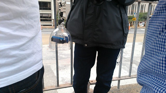 The balloons at #OccupyWallStreet have an aerial camera hanging from them