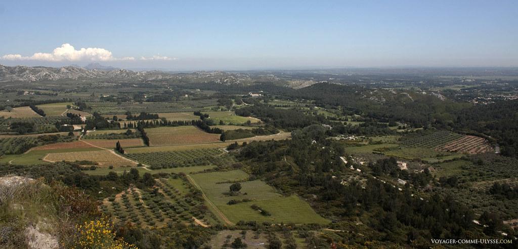 Panorama sur la superbe région des Alpilles