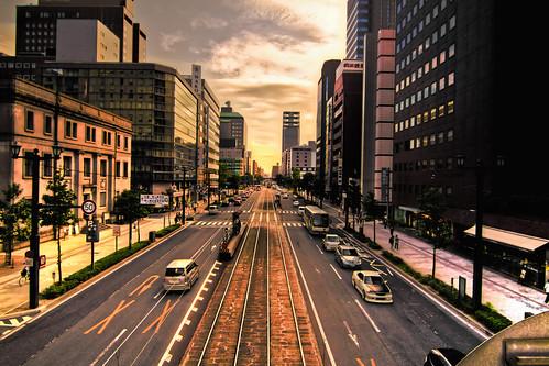 [フリー画像] 建築・建造物, 都市・街・村, 日本, 広島県, HDR, 201110042300