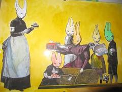 nurse wererabbit_ mc1984_2006 (mc1984) Tags: rabbit art collage flickr drawing 2006 lapin détournement mc1984 wererabbit aleister236