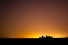 Stonehenge: the next chapter (AndWhyNot) Tags: light sky english heritage monument silhouette night stars ancient pollution stonehenge starlight 4770