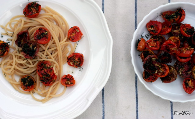 Spaghetti integrali pomodorini  confit