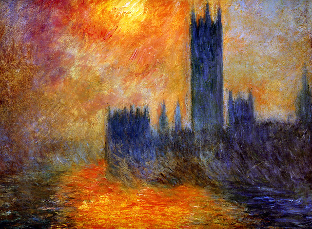 MONET (1901) House of the Parliament - Sun