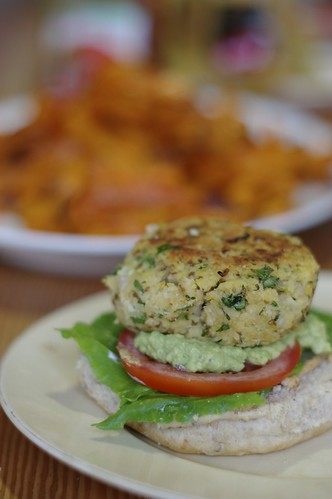 Sprouted Garbanzo Bean Burgers
