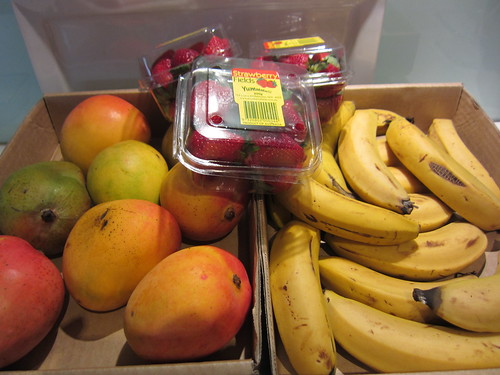 Roadside fruit purchase