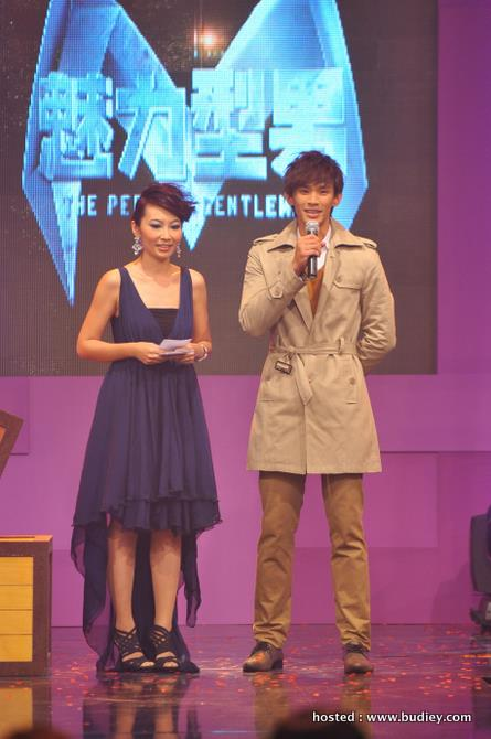 Joel co-hosting with The Perfect Gentleman host, Hoong JiaHui