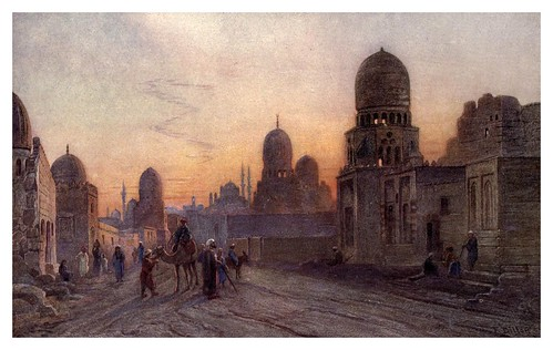 023-La tumba de los Califas en el Cairo- Frank Dillon-The Royal institute of painters in water colours 1906- Charles Holme