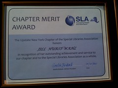 SLA Upstate NY Chapter Merit Award