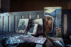 decoration (CmdrCord) Tags: portrait urban painting photo foto decay soviet politician exploration urbex politiker verfall gemlde sowjetische kuznetsov politburo ponomarev politbro