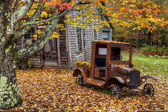 Autumn Leaves and 1925 Ford (Greg from Maine) Tags: autumn autumnfoliage red fall leaves landscape golden antique antiquecar maine newengland autumnleaves foliage 1925 fallseason antiqueford flickraward 1925ford flickraward5