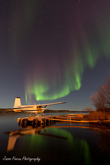 Northern Lights (Jason Pineau) Tags: canada mike night dark stars lights nt nwt 180 aurora astronomy northwestterritories northern seaplane cessna murphy borealis yellowknife floatplane 180b cen9 cflco