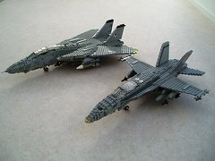 Fighters of CVW-8 (1) (Mad physicist) Tags: lego aircraft military models usnavy cvw8