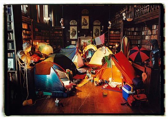 it rained outside so we camped inside 2002
