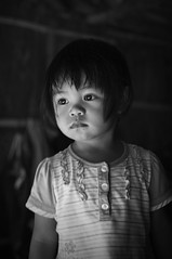 Museum Visit (upgrade_56) Tags: light portrait bw baby white black cute girl museum kids children eyes child natural emotion longhouse sabah bnw litte catchlight rungus