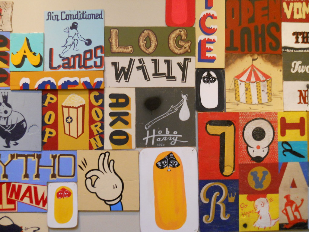 A show of Hand Lettering. Installation from J.Meadows, C.Bowden, S.Whisenant
