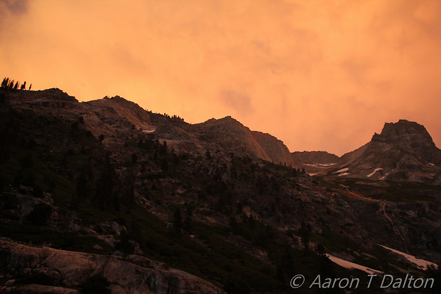 Smokey Stormy Sunset
