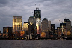 IMG_2649-1  Taken on 9/10/2011 (Fairywebmother) Tags: nyc sky newyork beautiful skyline clouds lights jerseycity worldtradecenter wtc freedomtower 9111hudsonriver