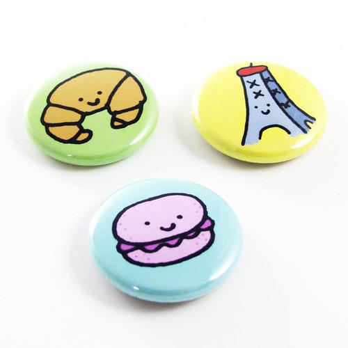 J'adore la France Button Set 2