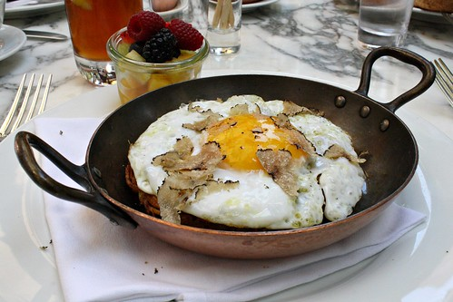 Potato Rosti with Duck Egg and Truffles