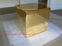 Gold Plated Brass Cube (PureGoldPlating) Tags: brass polishedbrass goldplating brassware goldplatedbrass brasscube mirrorfinishpolishing
