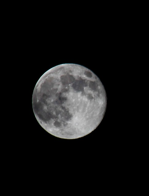 My first attempt at a picture of the moon tonight.
